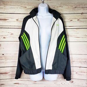 Adidas zip up windbreaker zip up jacket Kids L